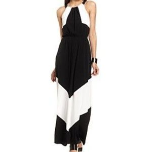 Vince Camuto Colorblock Halter Maxi Dress -  10
